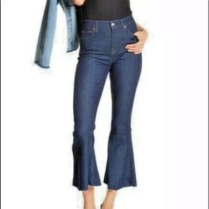 Seven 7 for all Mankind jeans flare raw hem 31 A25